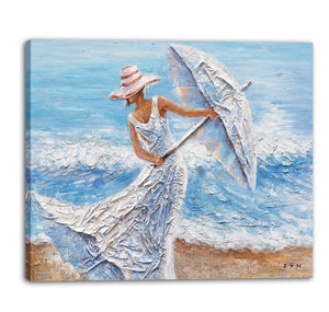 """Beach Winds"" Hand Painted on Wrapped Canvas"