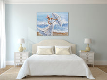 "Load image into Gallery viewer, ""Beach Winds"" Hand Painted on Wrapped Canvas"