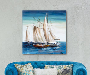 """Sailing Away"" Hand Painted on Wrapped Canvas"