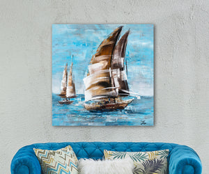 """The Sail and the Sea"" Hand Painted Canvas"