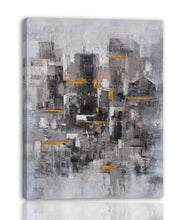 "Load image into Gallery viewer, ""Abstract Gold Tokens II"" Hand Painted on Wrapped Canvas"