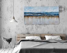 "Load image into Gallery viewer, ""Abstract Ocean Beach"" Hand Painted on Wrapped Canvas"