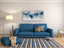"Load image into Gallery viewer, ""Abstract Water and Earth"" Hand Painted Canvas Artwork; Fine Art; Modern"