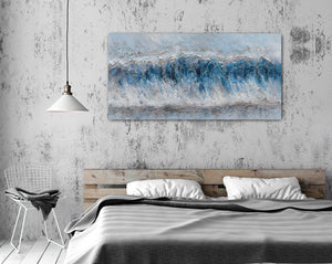 """Tidal Waves Abstract"" Hand Painted on Wrapped Canvas"
