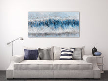 "Load image into Gallery viewer, ""Tidal Waves Abstract"" Hand Painted on Wrapped Canvas"