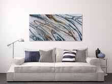 "Load image into Gallery viewer, ""Water Running Down The Hill Abstract"" Hand Painted on Wrapped Canvas"