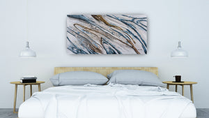 """Water Running Down The Hill Abstract"" Hand Painted on Wrapped Canvas"
