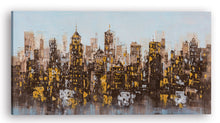 "Load image into Gallery viewer, ""City Lights Abstract"" Hand Painted on Wrapped Canvas"