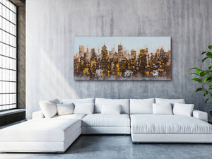 """City Lights Abstract"" Hand Painted on Wrapped Canvas"