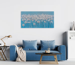 """A Sea of Dandelions"" Hand Painted on Wrapped Canvas"