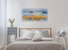 "Load image into Gallery viewer, ""Magical Yellow Flowers"" Hand Painted on Wrapped Canvas"