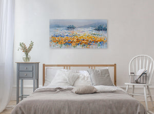 """Magical Yellow Flowers"" Hand Painted on Wrapped Canvas"