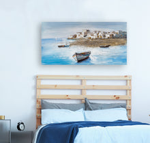 "Load image into Gallery viewer, ""Drifting Away from the Shore"" Hand Painted Canvas"
