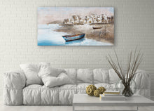 "Load image into Gallery viewer, ""Back at Shore"" Hand Painted on Wrapped Canvas"