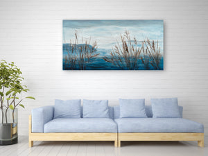 """Plants by the Water II"" Hand Painted on Wrapped Canvas"