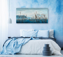 "Load image into Gallery viewer, ""Plants by the Water II"" Hand Painted on Wrapped Canvas"