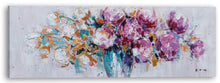 "Load image into Gallery viewer, ""Pink Peonies"" Hand Painted on Wrapped Canvas"