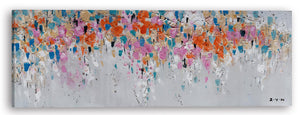 """A Mess of Flower Petals"" Hand Painted on Wrapped Canvas"