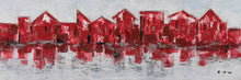 "Load image into Gallery viewer, ""Shades of Red"" Hand Painted on Wrapped Canvas"