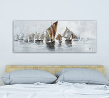 "Load image into Gallery viewer, ""Coming Home from Sea"" Hand Painted on Wrapped Canvas"