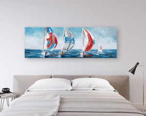 """sailing with the Wind"" Hand Painted on Wrapped Canvas"