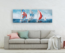 "Load image into Gallery viewer, ""sailing with the Wind"" Hand Painted on Wrapped Canvas"