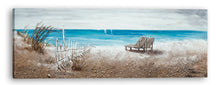 "Load image into Gallery viewer, ""The Ocean Front"" Hand Painted on Wrapped Canvas"