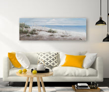 "Load image into Gallery viewer, ""Beach Vibes"" Hand Painted on Wrapped Canvas"