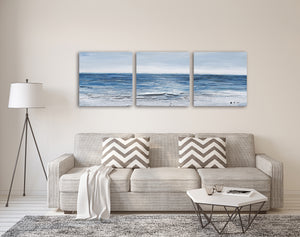"""Calm Waves"" Hand Painted on Wrapped Canvas"