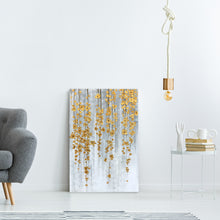 "Load image into Gallery viewer, ""Golden Fall"" Hand Painted on Wrapped Canvas"