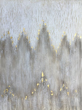 "Load image into Gallery viewer, ""Abstract Gold Flakes"" Hand Painted on Wrapped Canvas"