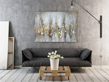 "Load image into Gallery viewer, ""Abstract Gleaming Gold"" Hand Painted on Wrapped Canvas"
