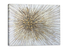 "Load image into Gallery viewer, ""Gold Spikes"" Hand Painted on Wrapped Canvas"