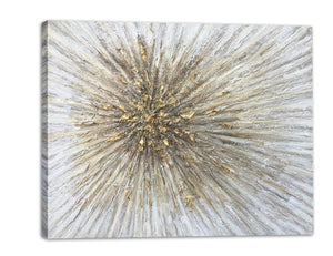 """Gold Spikes"" Hand Painted on Wrapped Canvas"