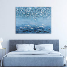 "Load image into Gallery viewer, ""Shades of Blue Waters"" Hand Painted on Wrapped Canvas"