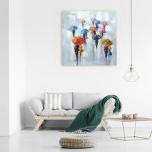 "Load image into Gallery viewer, ""Rainy Days in the City II "" Hand Painted Canvas"