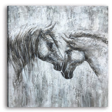 "Load image into Gallery viewer, ""Love and Faith"" The horse paintings Print on Wrapped Canvas"