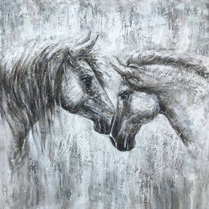 """Love and Faith"" The horse paintings Print on Wrapped Canvas"