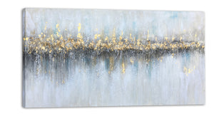 """Abstract Golden From Afar"" Hand Painted on Wrapped Canvas"