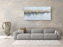 "Load image into Gallery viewer, ""Abstract Golden From Afar"" Hand Painted on Wrapped Canvas"