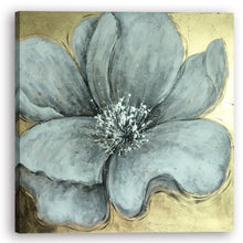 "Load image into Gallery viewer, ""Gold Flower""Hand Painted on Wrapped Canvas"