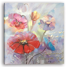"Load image into Gallery viewer, ""A Beautiful Day with Flowers I"" Hand Painted on Wrapped Canvas"