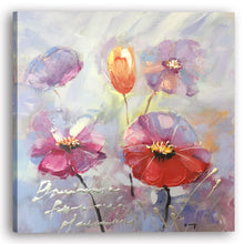 "Load image into Gallery viewer, ""A Beautiful Day with Flowers II"" Hand Painted on Wrapped Canvas"