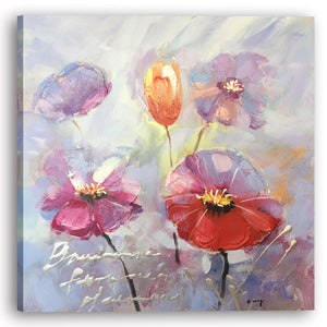 """A Beautiful Day with Flowers II"" Hand Painted on Wrapped Canvas"