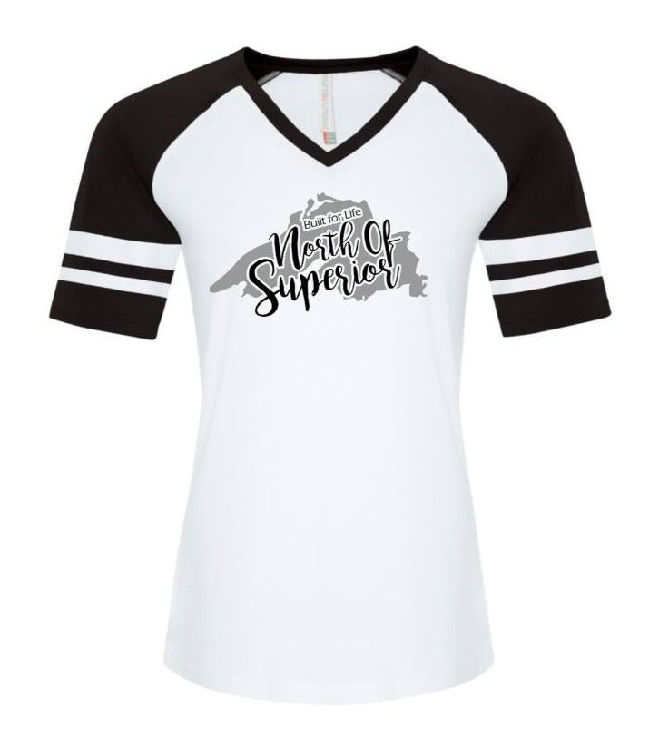 North of Superior Ladies Baseball Tee