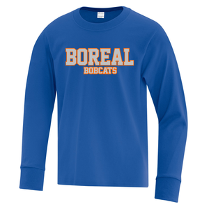 Boreal Bobcats Spirit Wear Long Sleeve Tee - Youth AND Adult