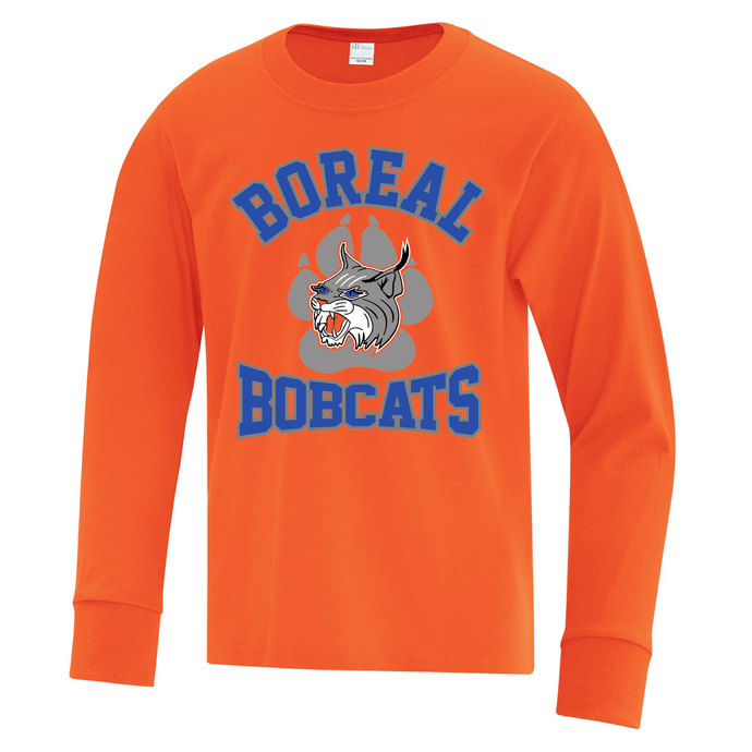Boreal Bobcats Logo Spirit Wear Long Sleeve Tee - Youth AND Adult