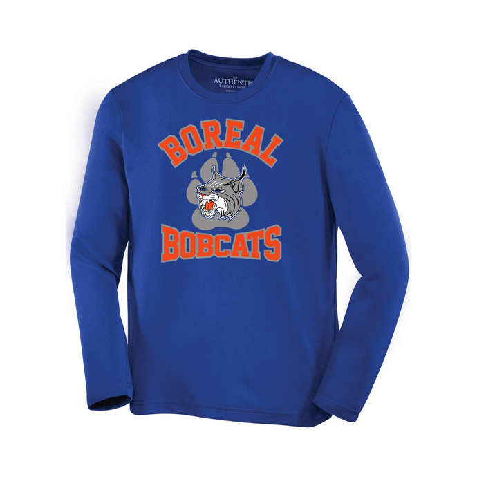 Boreal Bobcats Logo Spirit Wear Pro Team Long Sleeve Tee - Youth AND Adult