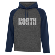 Load image into Gallery viewer, North of Superior Dynamic Heather Fleece Two-Tone Hoodie