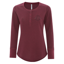 Load image into Gallery viewer, NOS Ladies Thermal Long Sleeve Henley